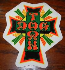 "DOGTOWN dog town Skate Sticker BlkRd Cross 4.25 X 3.5"" skateboards helmets decal"