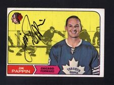 1968 Topps #21 Jim Pappin Signed Auto Autographed Card Maple Leafs JC LOA *28640
