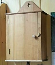 Hanging Wall Cabinet in Shaker Style, Handmade in Cherry