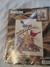 JANLYNN Counted Cross Cross Stitch Kit WELCOME SPRING Birds Birdhouse ~ New