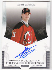 12-13 Limited Adam Larsson Auto Rookie Private Signings 2012 Devils Panini