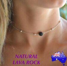 Natural Lava Rock Stone Aromatherapy Essential Oil Diffuser Choker Necklace Gift