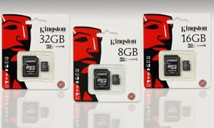 KINGSTON 16GB 32GB 64GB 128GB MICRO SD MEMORY CARD SDHC SDXC TF CLASS 10 UHS-I