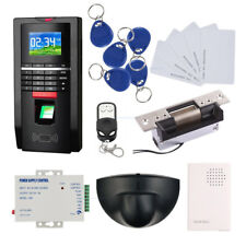 Full Fingerprint Door Access Control Systems ANSI Strike Lock+Exit Motion Sensor