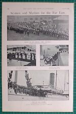 1900 BOER WAR ERA TROOP-SHIP SEAMEN EMBARKING FORTON MARINES JELUNGA PORTSMOUTH