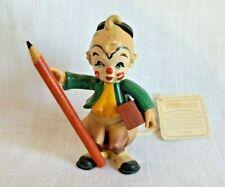 Vintage Anri school clown holding pencil eraser Toriart made in Italy figurine