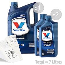 Car Engine Oil Service Kit / Pack 7 LITRES Valvoline All-Climate 20w-50 7L