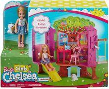 Barbie Club Chelsea Treehouse Children's Play Set Incluye Muñeca & Perro Nuevo y en caja