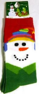 K Bell Christmas Snowman Carrot Nose Earmuffs Green Socks New Size 9-11 Gift Tag