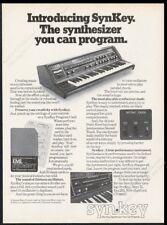1976 SynKey EML synthesizer photo vintage print ad