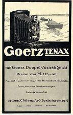 Goerz Tenax mit Doppel-Anastigmar Camera Historische Annonce 1913