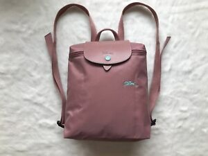 Longchamp Le Pliage Club Collection Horse Embroidery Backpack Bag Pink