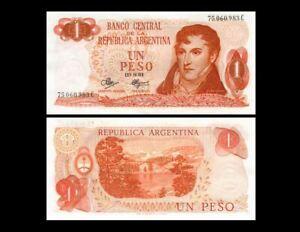 ARGENTINA 1 PESO P 287 1970-1973 UNC