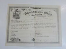 Antique Certificate 1875 Soldier Illustration Greene County Iowa Paper History N