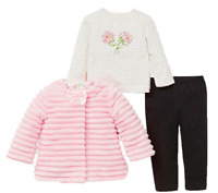 SALE NEW Little Me Girls 3-Pieces Jacket, Top, Pant Outfit Set VARIETY OF SIZE