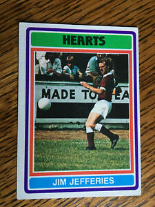 Topps gum Scottish football cards 1976 Hearts Jefferies 45