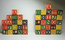 Alphabet Wooden Blocks 45 pieces Learning Toy Children's My Kids Zip Case VGC