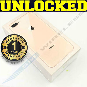 Apple iPhone 8 PLUS - 256GB GOLD WHITE (GSM UNLOCKED) AT&T │ T-MOBILE ❖SEALED❖W
