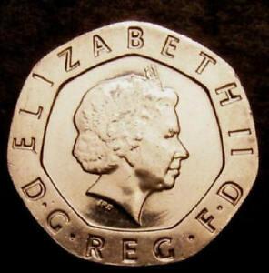 2008 Choice UNC Undated No Date Mule Twenty Pence 20p Coin CGS 80