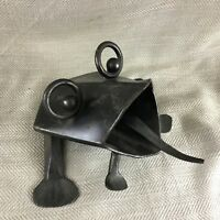 Grenouille Sculpture Ornement Métal Figurine Main Art Contemporain Butoir