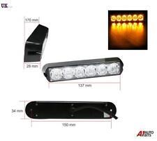 6 LED Strobe Flashing Recovery Lightbar 12V Amber Truck beacon Lights 12V 24V