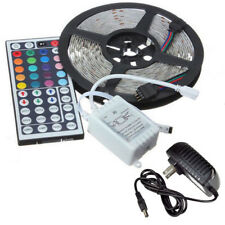 16.4ft 5050 300LED Strip Lights RGB Colour Changing Tape+44Key Remote+12V Power