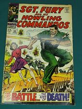 MARVEL COMICS GROUP SGT. FURY AND HIS HOWLING COMMANDOS #55 6/1968 NICE COPY!!