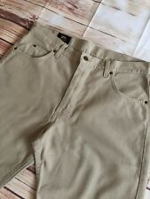 Lee Portland Mens Beige Colour Classic Fit, Straight Jeans  W36 L34 Great Cond!