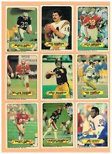 1983 Topps Football (33) Card Sticker Insert Set! Montana! Bradshaw! Allen Rook!