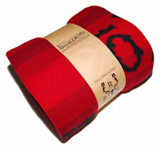 Polo Ralph Lauren Double RL RRL Mens Lambswool Red Black Western Blanket