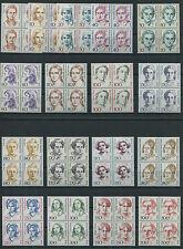 Berlin Frauen postfrisch kompl. Viererblock VB ungefaltet 830,824-828,848-849..