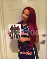 WWE SASHA BANKS HAND SIGNED AUTOGRAPHED 8X10 PHOTOFILE PHOTO WITH PROOF COA 6