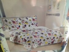 Full/Queen SZ Bedspread/Quilt w Matching Sham Rockets  Reversible NWT for Boy