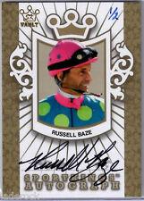 Russell Baze 2014-2015 Leaf SportKings Vault Gold Version Autograph #1/2 AUTO
