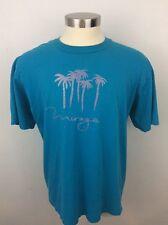 Vintage 1990s MIRAGE LAS VEGAS T Shirt Size 2XL XXL Coral Blue & Pink Palm Trees