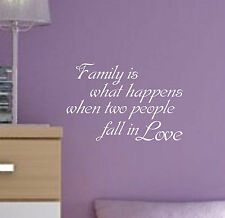 Family is what Happens Love Quote sticker decal vinyl wall art home decor FWH1
