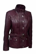 New Ladies Cherry Plum Slim Fit Soft Leather Jacket Casual  Collar Rock Jacket