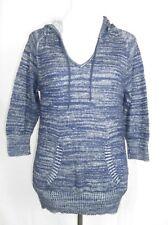 Levis Blue Hooded Cute 3/4 Sleeve Hoodie Top Kangaroo Pocket M