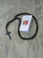 """""""Bellátor""""(Warrior) Military Rosary - Black St Benedict Flared Crucifix."""