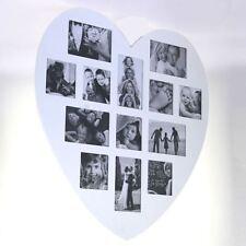 Marco de fotos de madera Blanco Forma Corazón 60 x 60 cm Revoltijo 13 fotos