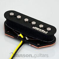 NEW Wilkinson WVTB Alnico V Polepiece Bridge Pickup for Tele ®* guitars Black