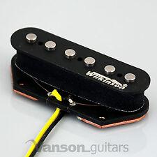 NUOVO Wilkinson WVTB Alnico pickup al ponte polepiece V per Tele ® * chitarre nero
