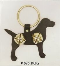 Handmade Amish Decorative Animal Leather Door Hangers W/2 Bells. Dog Cat Horse
