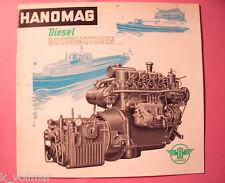 ✪altes gesuchtes BOOT/Schiff Original Prospekt Hanomag Diesel Bootsmotoren