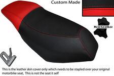 RED & BLACK CUSTOM FITS MALAGUTI PHANTOM F12 100 DUAL LEATHER SEAT COVER