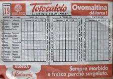 SCHEDINA Totocalcio partite del 12-01-1975 -  [AF-F4]