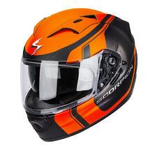 Casco integrale Scorpion Exo 1200S STREAM TOUR  ARANCIO moto air pump SIZE S