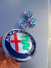 4x Alfa Romeo 60mm Felgendeckel Nabendeckel Nabenkappen Alufelgendeckel orig