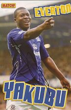 Everton: yakubu firmato A4 (12x8) RIVISTA FOTO + COA
