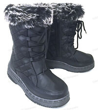 Women's Winter Boots Fur Lined Insulated Water Repellent Zipper Ski Snow Shoes